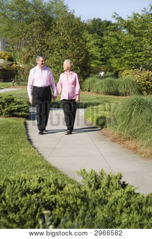 Mature Couple Walking.
