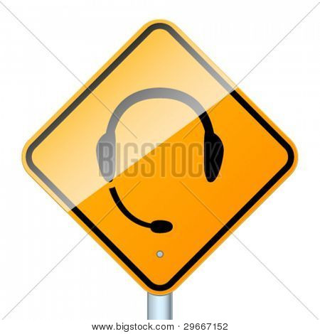 Use handsfree. High-detailed vector sign isolated on white background