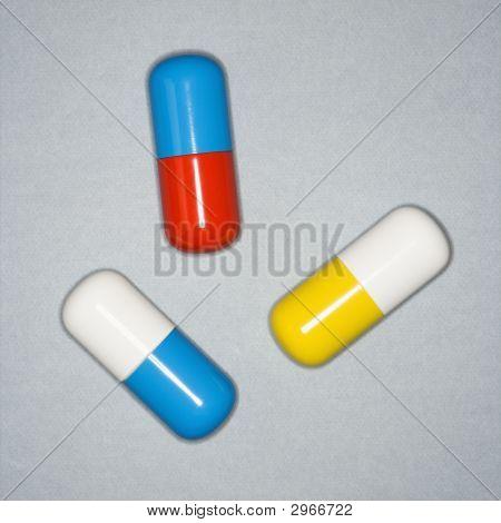Médicas píldoras.