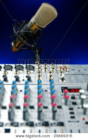 Audio Mixer and Microphone