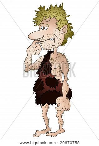 Prehistoric man, isolated
