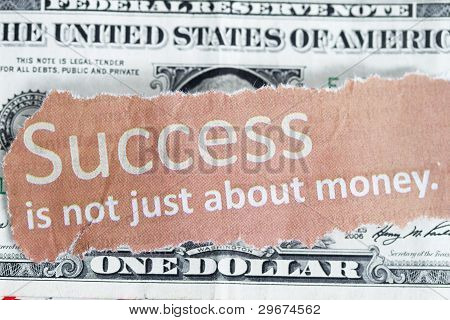 Success Is Not Just About Money