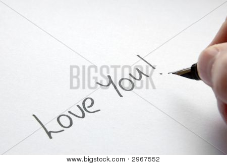 Note Saying Love You