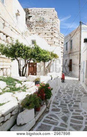Typical Greek Island Town - Paros Island Greece