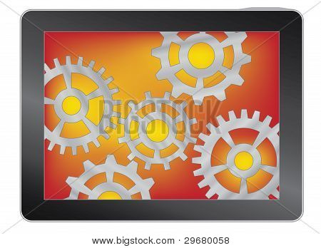 Tablet With Gears