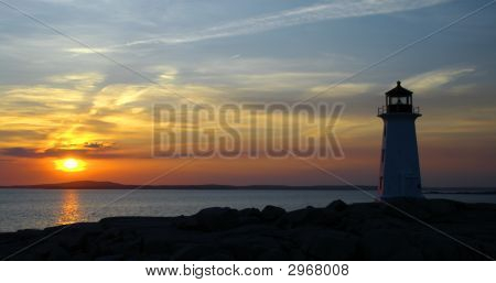 Evening At Peggys Cove Nova Scotia