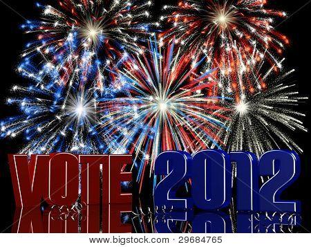 Vote 2012 Fireworks