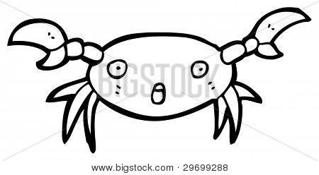 startled crab cartoon (raster version)