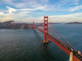 Aerial View Of Golden Gate Bridge In San Francisco, Usa poster