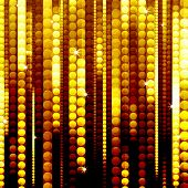 stock photo of gold glitter  - strips of shiny golden circles - JPG
