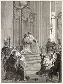 image of atonement  - Penance ceremony in Saint - JPG
