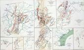 stock photo of rebs  - Map Of Battles Of Gettysburg - JPG