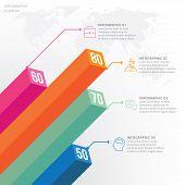 3d Info-graphic Element. Business Concept Steps Or Processes, Work-flow, Diagram, Graph. poster