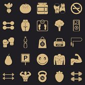 Toned Body Icons Set. Simple Set Of 25 Toned Body Vector Icons For Web For Any Design poster