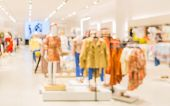 Blurred Image For Background Of Childrens Clothing Store In The Department Store Shopping Mall. Kid poster
