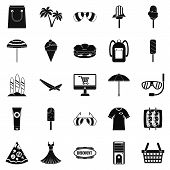 Shopping Tour Icons Set. Simple Set Of 25 Shopping Tour Icons For Web Isolated On White Background poster