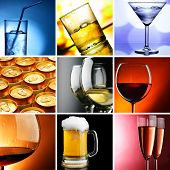 stock photo of assemblage  - Alcohol - JPG