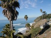 "stock photo of swami  - Seascape at ""Swamis"" popular beach location in Encinitas California