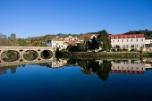 Ancient bridge and village of Arcos de Valdevez, in Minho, Portugal