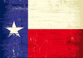 stock photo of texas state flag  - Texas grunge flag - JPG