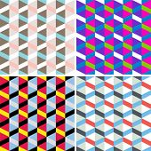 Vector set of seamless check patterns.