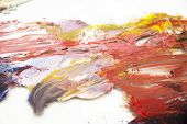 Hand Drawn Acrylic Painting. Abstract Art Background. Acrylic Painting On Canvas. Color Texture. Fra poster