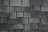 Asphalt Shingles Photo. Close Up View On Asphalt Roofing Shingles Background. Roof Shingles - Roofin poster