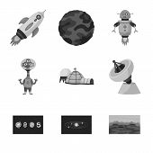 Vector Design Of Universe And Travels  Icon. Set Of Universe And Cosmic  Vector Icon For Stock. poster