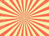 Old Retro Background With Rays And Explosion Imitation. Vintage Starburst Pattern With Bristle Textu poster