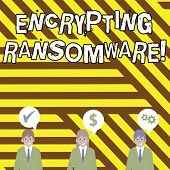 Conceptual Hand Writing Showing Encrypting Ransomware. Business Photo Text Malware That Limits Users poster
