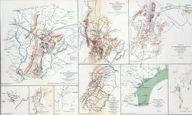 stock photo of rebs  - Map Of Battles Of Gettysburg - JPG