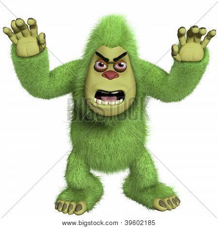 Horror Green Yeti