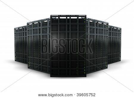 3d rendering of computer server