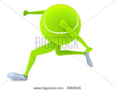 Three Dimensional Running Tennis Ball