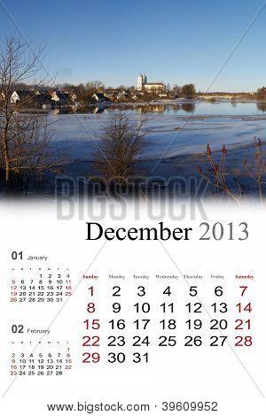 2013 Calendar. December