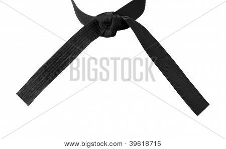 Tied Karate Black Belt