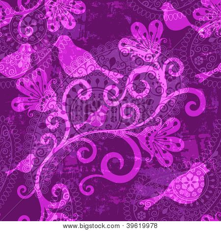 Violet Repeating Pattern