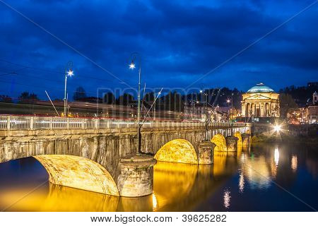 Panorama Of Turin, Italy.