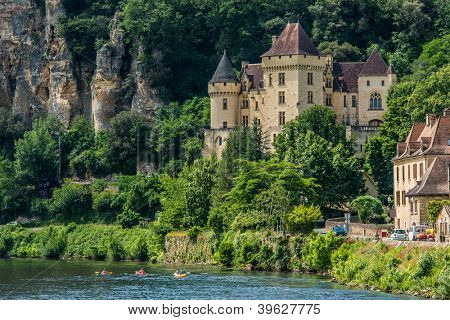 chateau de la mallantrie  village of La roque gageac dordogne perigord France