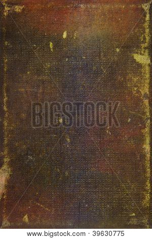 Old Leather: Abstract Textured Background With Brown And Yellow Patterns