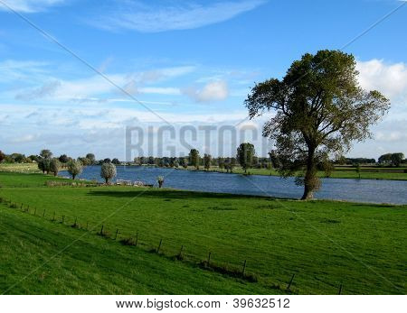 Landscape around a river
