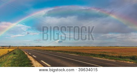 Rainbow Over The Road