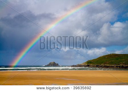 Rainbow at beach