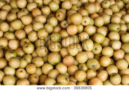 Fresh jujube (Ziziphus jujuba) background
