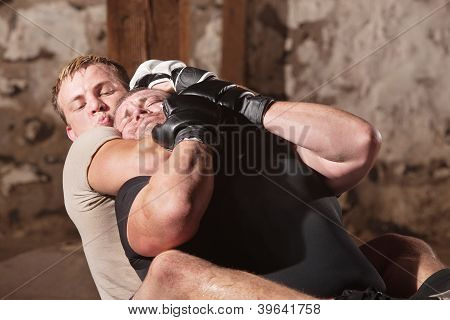 Man In Rear Choke Hold