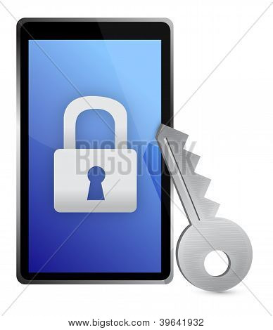 Lock Tablet And Key
