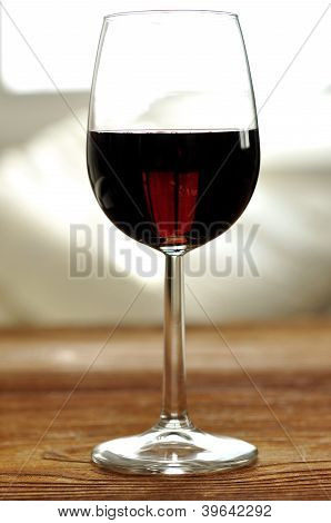 Glass Of Fine Italian Red Wine