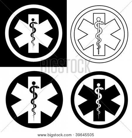 Emergency Symbol in Black & White