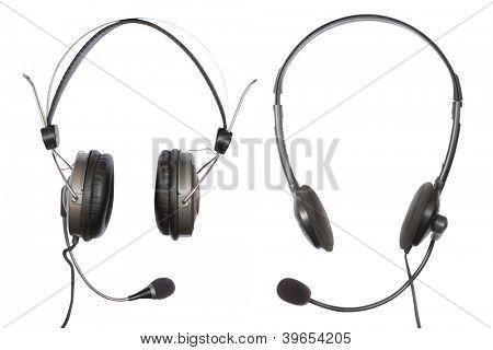 headphones under the light background
