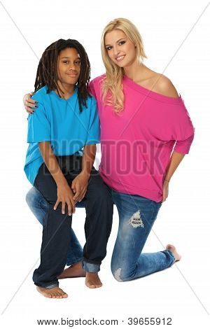 Blonde Woman Loves Her Rasta Brother